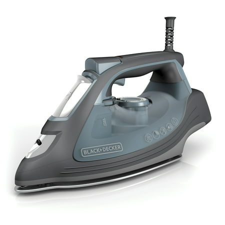 BLACK+DECKER IMPACT Advanced Steam Iron with Maximum Durability and 360° Pivoting Cord, Gray, IR3000 ()