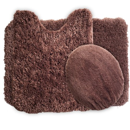Lavish Home 3 Piece Super Plush Non Slip Bath Mat Rug Set. Lavish Home 3 Piece Super Plush Non Slip Bath Mat Rug Set