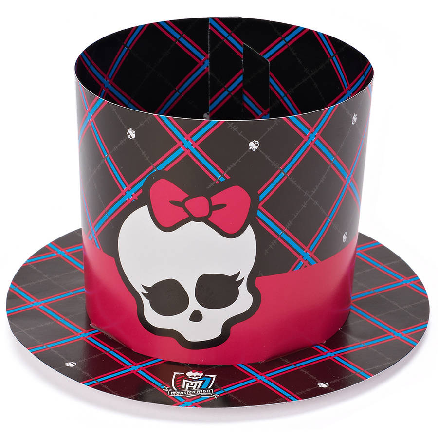Monster High Party Hats/Masks, 8 Count, Party Supplies