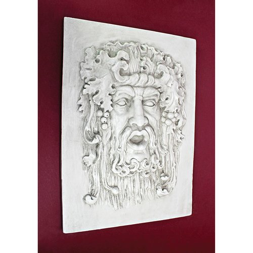 Design Toscano Medium Opimus and God of the Grapes Italian Wall Statue by Design Toscano