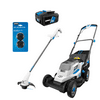 """HART 20-Volt 13"""" Push Mower Kit with 20-Volt 10"""" String Trimmer & .065"""" Line and Spool (2-Tool)"""
