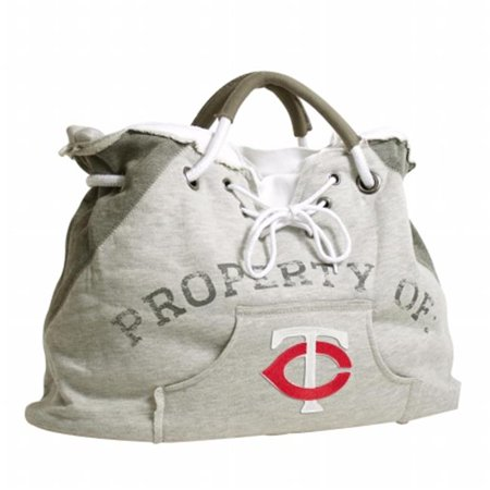 Little Earth Productions 650401-TWIN-GREY-1 Minnesota Twins Hoodie Tote Grey by