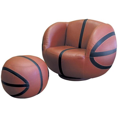 Basketball Chair and Ottoman set