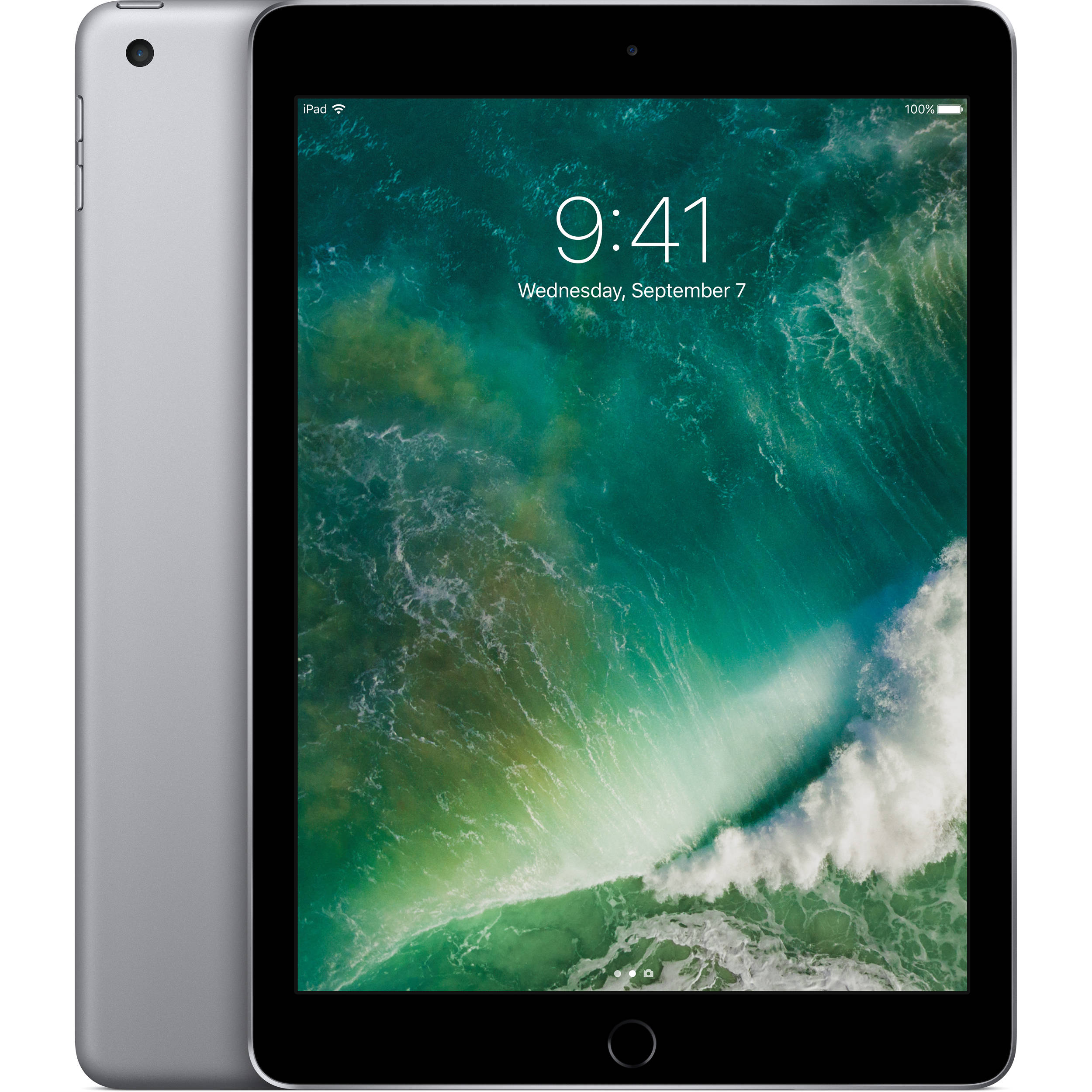Refurbished Apple iPad 2017 128GB Space Gray Wi-Fi MP2H2LL/A