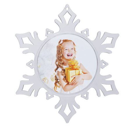 2009 Annual Snowflake Ornament (Snowflake Photo Ornament )