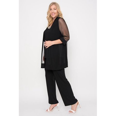 7efa4a6680b R amp M Richards Plus Size Formal Pants Suit - Walmart.com