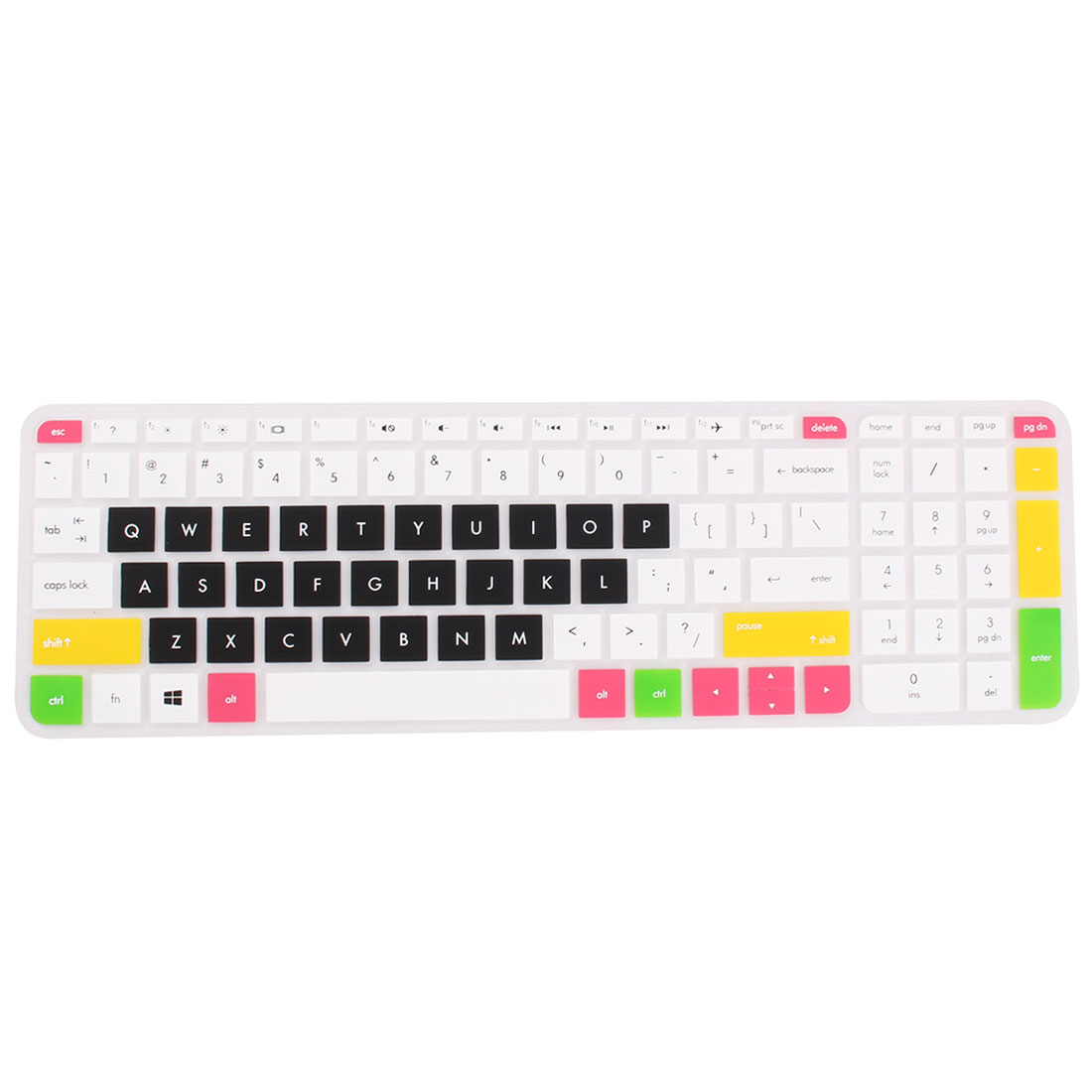 Unique Bargains Computer Silicone Protector Skin Keyboard Cover Multicolor for HP 14 inch