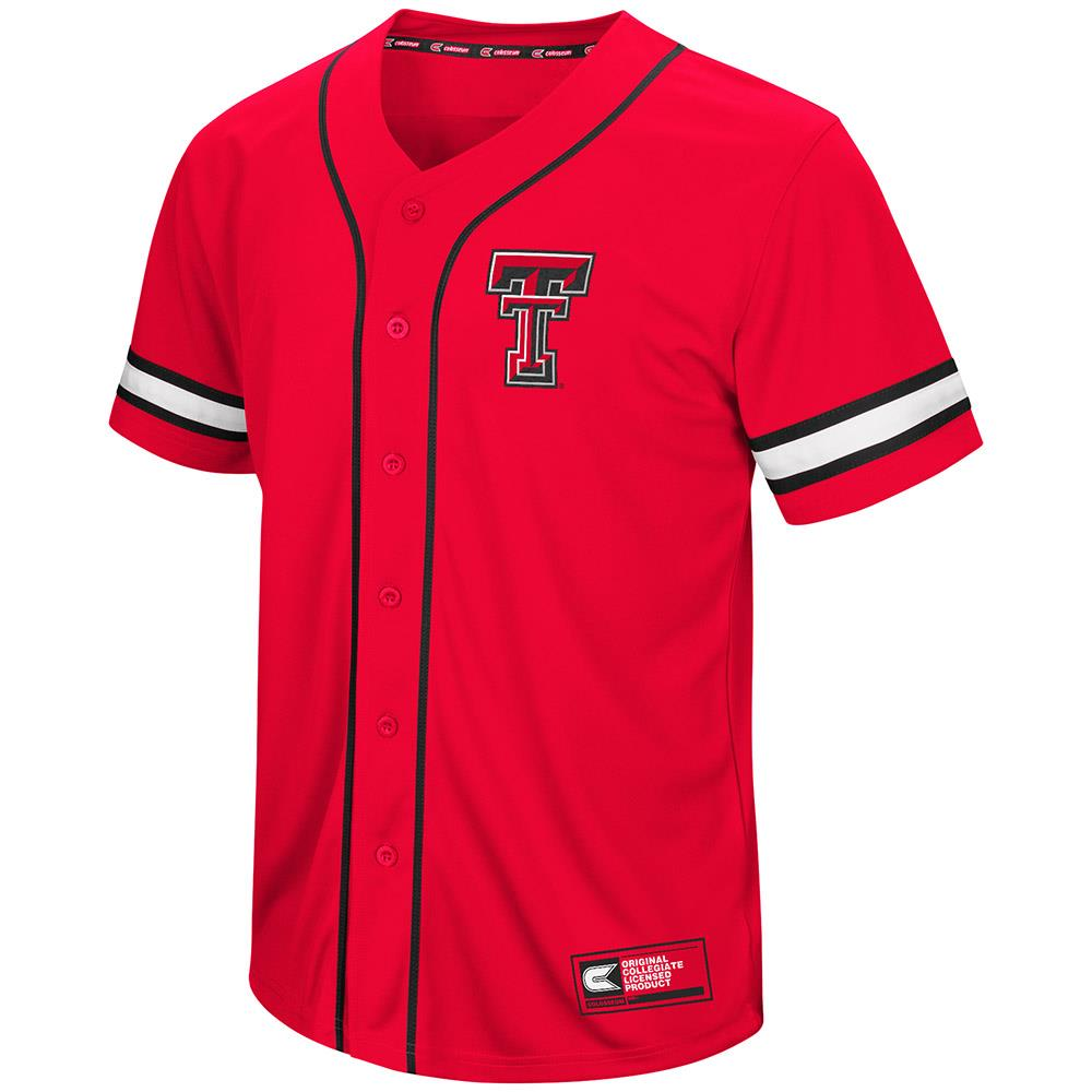 Mens Texas Tech Red Raiders Baseball Jersey - M