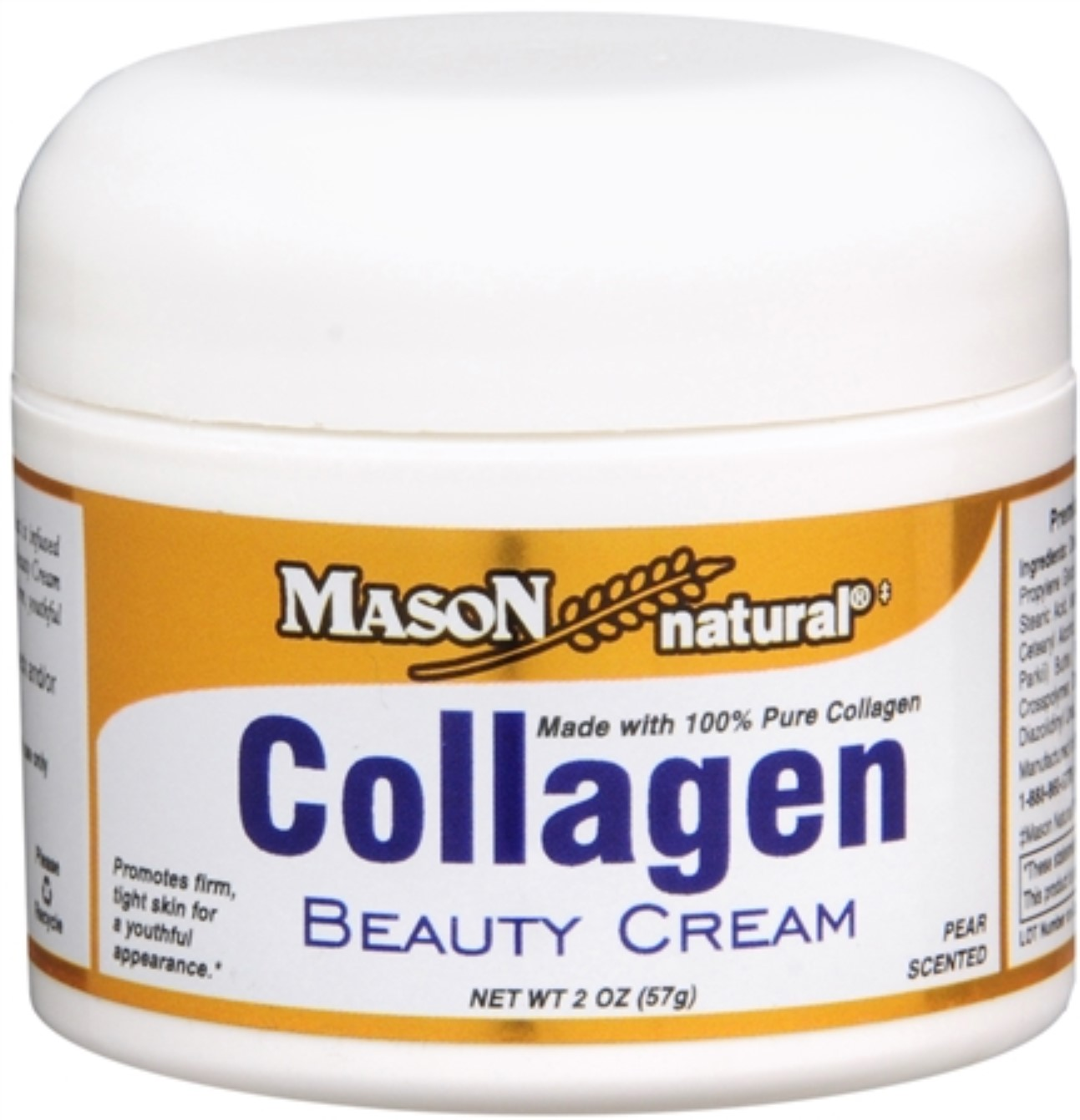 Mason Natural Collagen Beauty Cream 2 oz (Pack of 2)