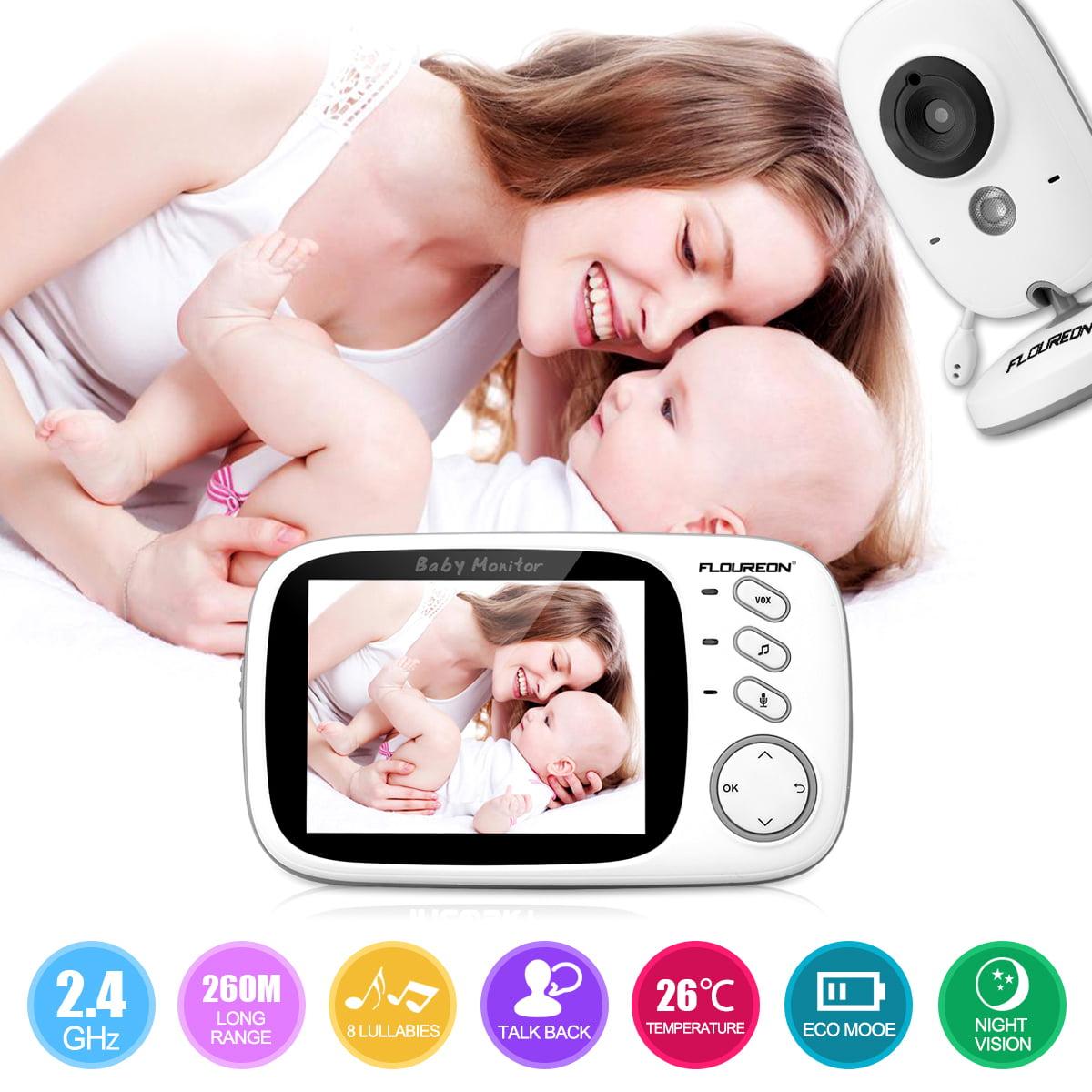 "Wireless 3.2"" Video Digital Camera Infant Baby Monitor Night Vision Temperature Monitor"
