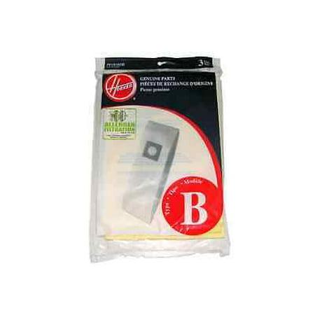 Genuine Hoover Style B Micro Allergen Vacuum Bags Type 4010103B Light Weight [Single Loose (57w Single Light)