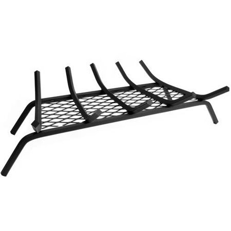 Pleasant Hearth 1/2 inch steel wood grate with 13 gauge ember retainer