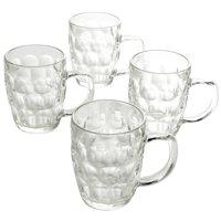 General Store 4 Piece 18 oz. Glass Beer Mug Set