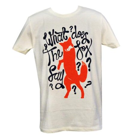 33bc88159643 Ylvis - What Does The Fox Say T-Shirt Adult  Ivory - Walmart.com