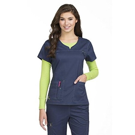 a99bcd67780 Med Couture - Med Couture Women's 'MC2' Lexi Scrub Top, Navy, Small -  Walmart.com