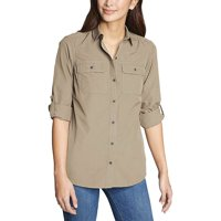 Eddie Bauer Travex Women's Atlas Exploration Boyfriend Cargo Shirt