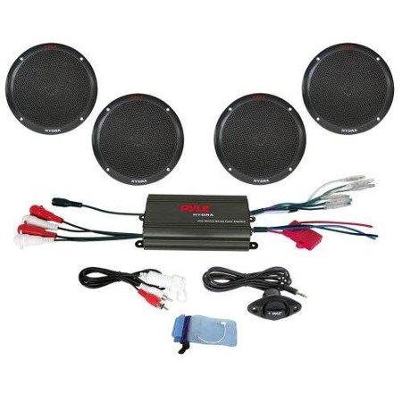 4 Channel 800 Watt Waterproof Micro Marine Amplifier & 6.5