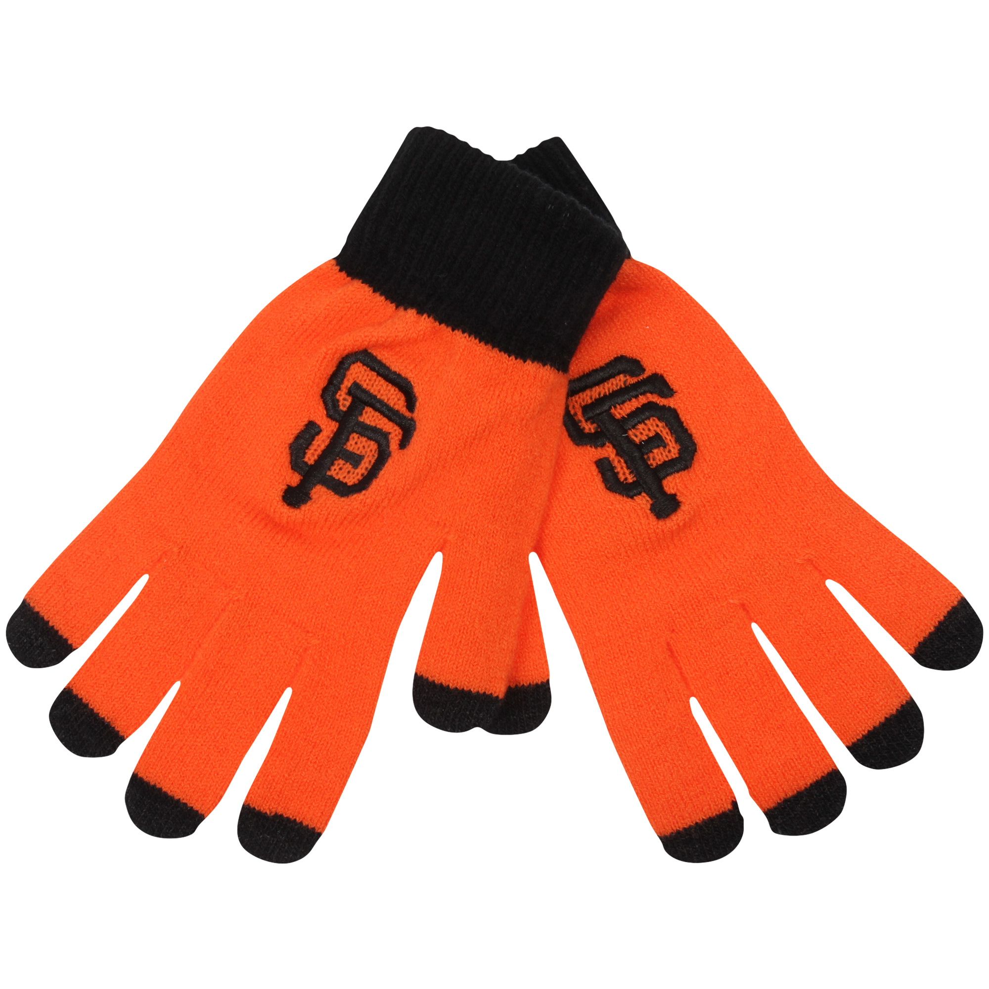San Francisco Giants Official MLB Glove Solid Outdoor Winter Stretch Knit by Forever Collectibles 262190 by TEAM BEANS INC/FOREVER COLLECTIBLES