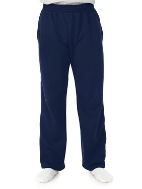 Fruit of the Loom Big Mens Soft Light-Weight Fleece Open Bottom Sweatpant, with Pockets