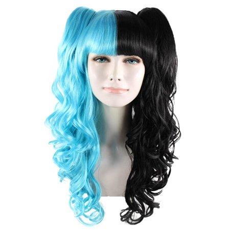Dolly Wig, Blue & Black Adult HW-1421 - Dolly Parton Wigs