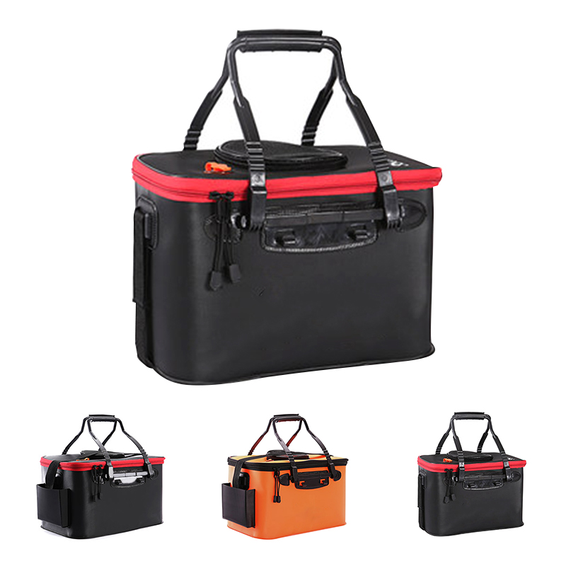 Details about  /Portable EVA Fishing Bag Collapsible Fishing Bucket Live Fish Box Container