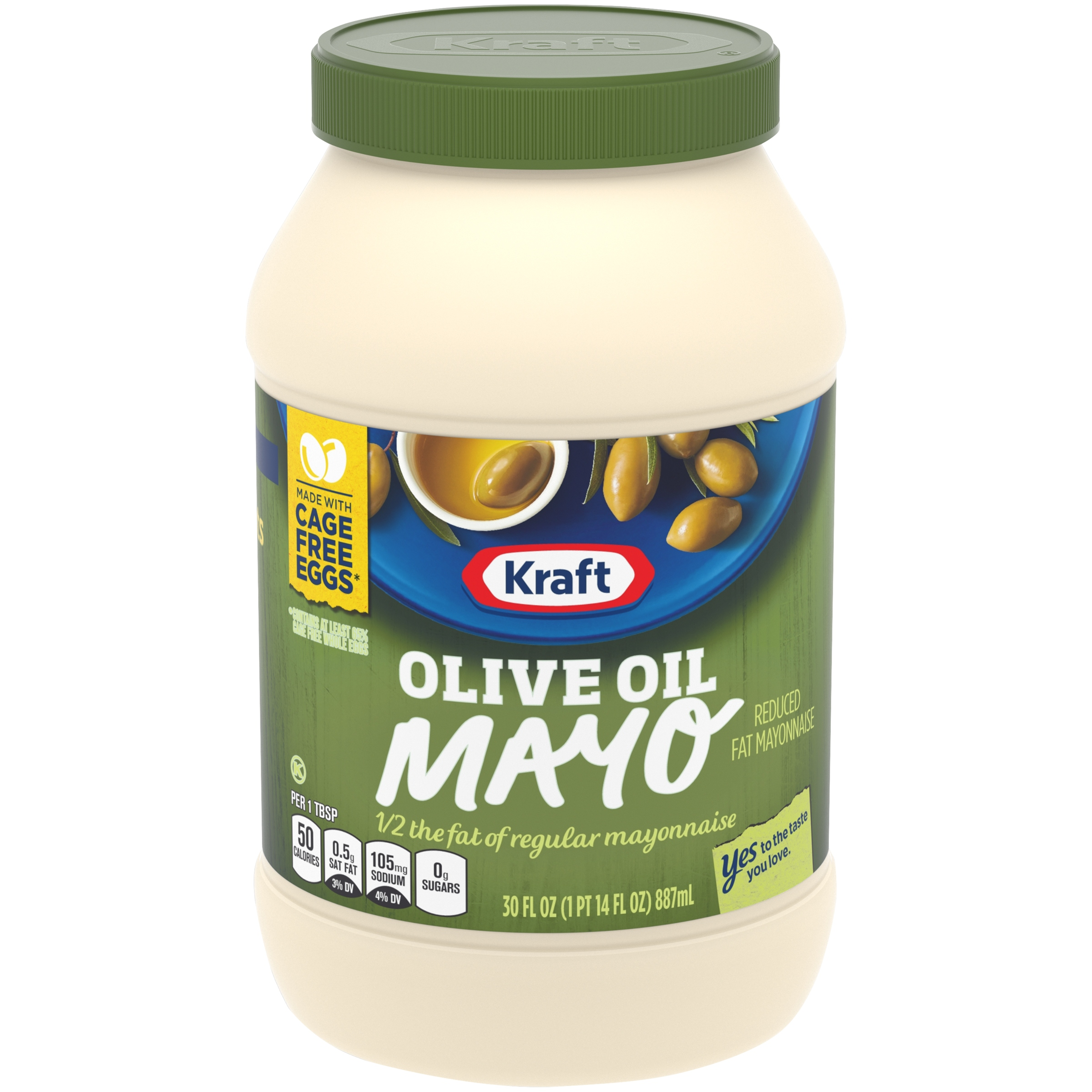 Kraft Olive Oil Reduced Fat Mayonnaise 30 fl. oz. Jar