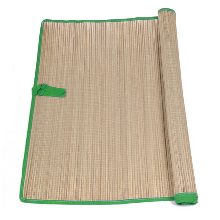 Black Unwrapped Straws (Veil Entertainment Natural Straw Beach Mats w Colored Trim 69