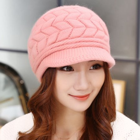 AkoaDa Women Winter Warm Knit Beret Hat Crochet Baggy Peaked Beanie Caps Best
