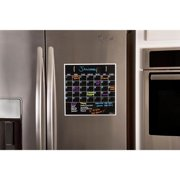 Black Fluorescent Magnetic Dry Erase Monthly Calendar
