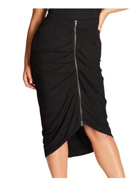 5e10da1d17385e Product Image City Chic Women's Plus Drape Straight Pencil Skirt