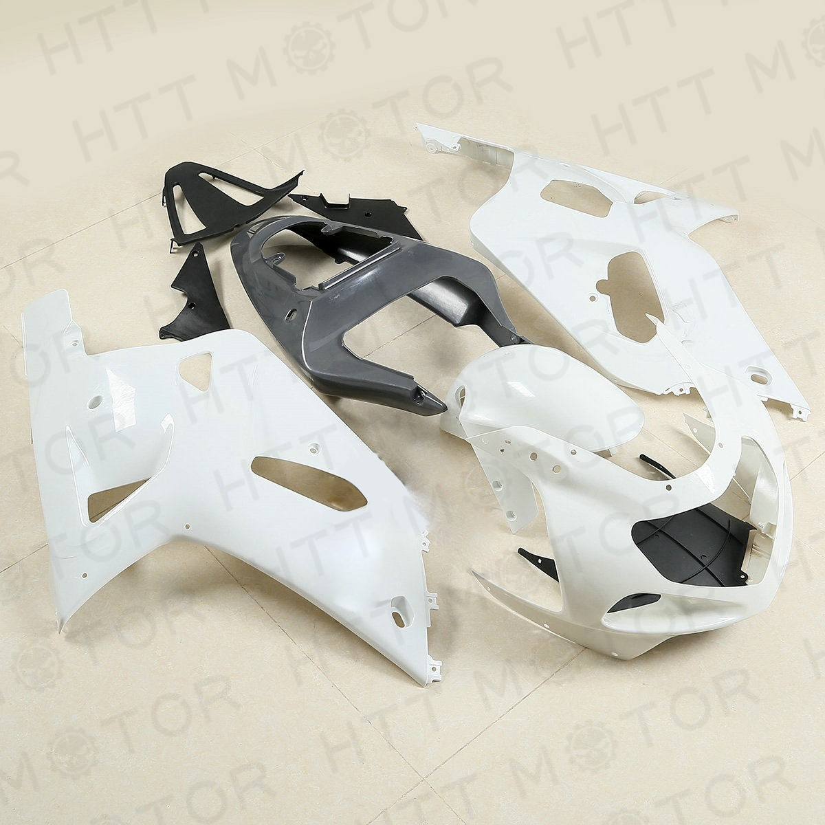 HTT Bodywork White Fairing Kit Unpainted ABS for SUZUKI G...