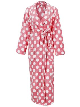 7801719ed Product Image Women s Fleece Plush Wrap Kimono Robe Bathrobe with  Pockets