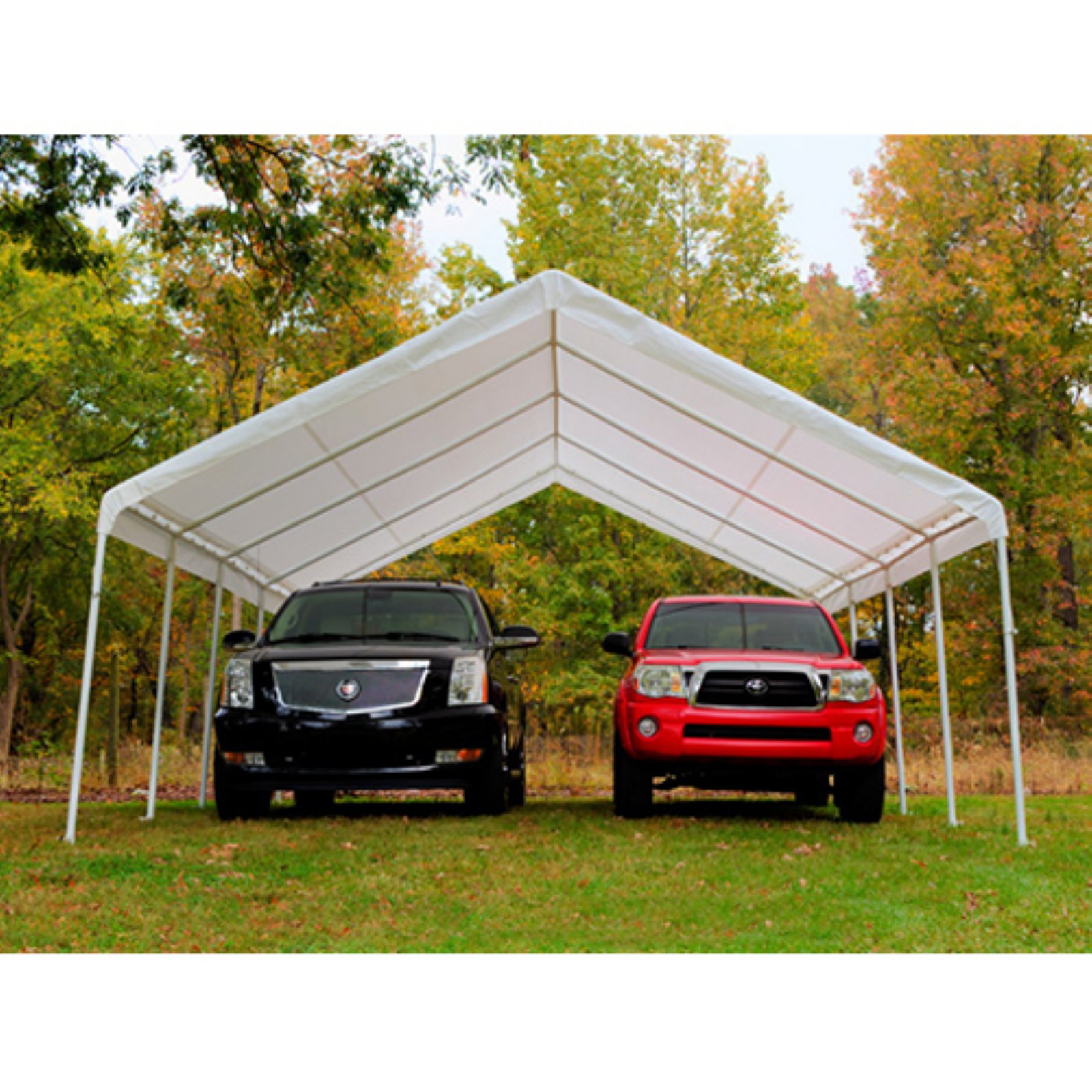 King Canopy 18 x 27 ft. Canopy Replacement Drawstring Carport Cover