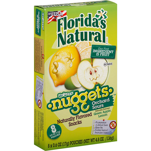 Florida's Natural Orchard Sours Nuggets, 4.8 oz, (Pack of 10)