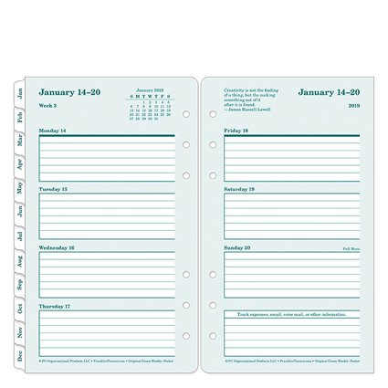 Franklin Covey Pocket - Pocket 100% Recycled Weekly Ring-bound Planner - Jan 2019 - Dec 2019