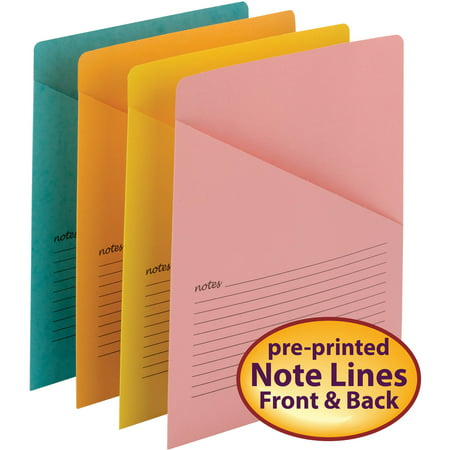 - Smead Organized Up® Notes Slash Jacket, Letter Size, Assorted Colors, 12 per Pack (75427)