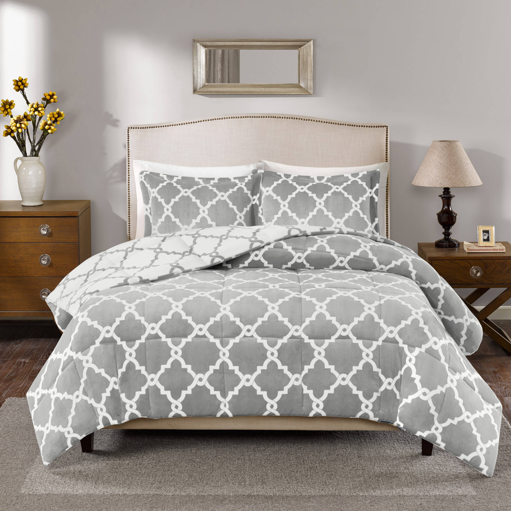 Comfort Classics Alston Reversible Plush Comforter Mini Set