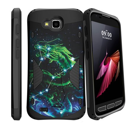 Hybrid Layers for LG X Caliber | X Venture [ PRO IMPACT ] 360 Degree Rotating Double Layer Kickstand Case - Dragon (Double Dragon Mobile)