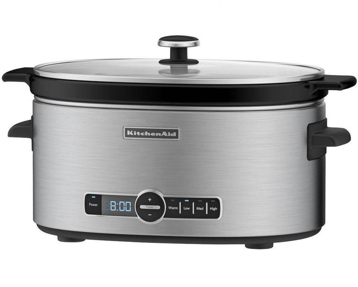 KitchenAid® 6-Quart Slow Cooker with Solid Glass Lid - Walmart.com