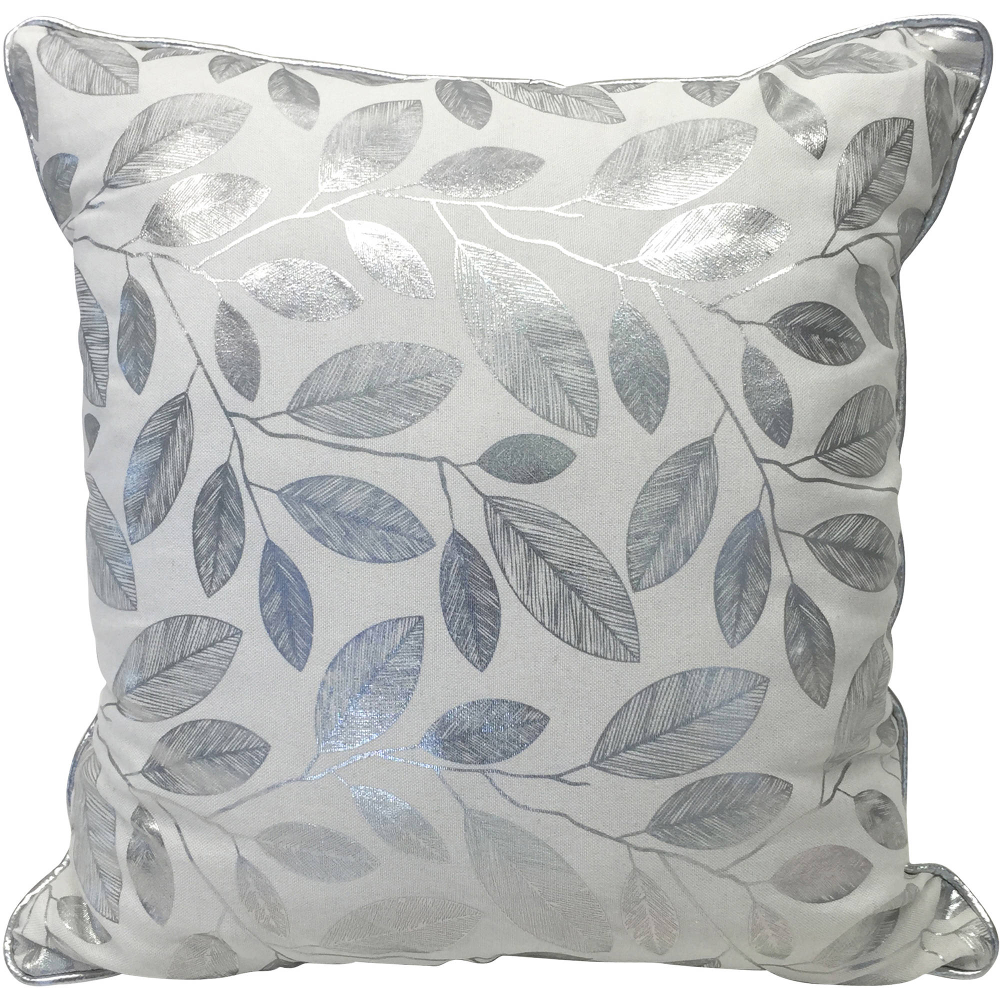 Better Homes and Gardens Glamorous Foil Leaves Reversible Pillow