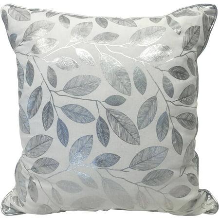 Better homes and gardens glamorous foil leaves reversible - Better homes and gardens pillows ...