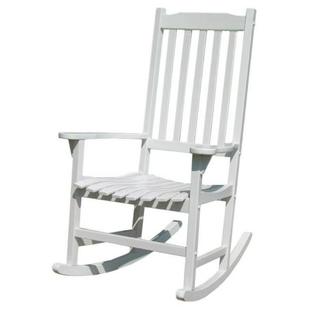 Traditional Rocking Chair, White Painted Outdoor Painted Chair