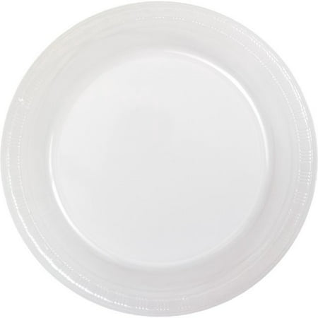"Touch of Color Plastic Lunch Plate, 7"", Clear, 20 Ct"