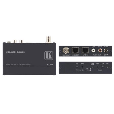 (Kramer 712N Composite Video & Stereo Audio Twisted Pair Receiver w/7-Yr Warranty)