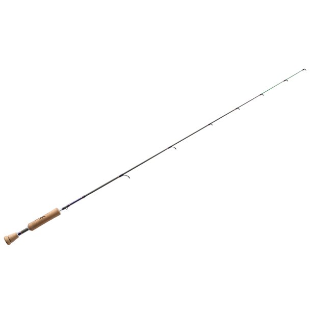 "13 FISHING Widow Maker Ice Rod 42"" L  - Tickle Stick Tip - Tennessee Handle - Hole Hopper Rod (WMTS42L)"