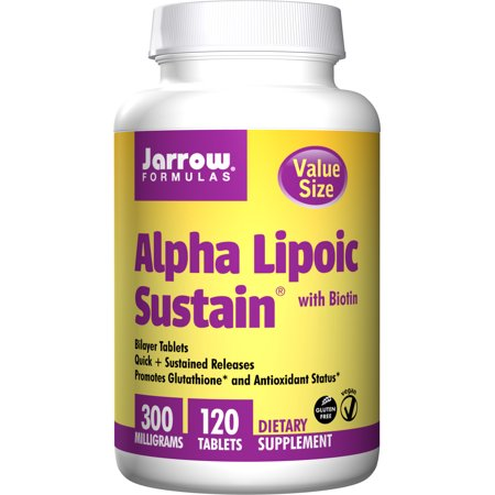 Jarrow Formulas Alpha Lipoic Sustain, Supports Cardiovascular Health, 300 mg, 120 Sustain (Alpha Energizing Formula)