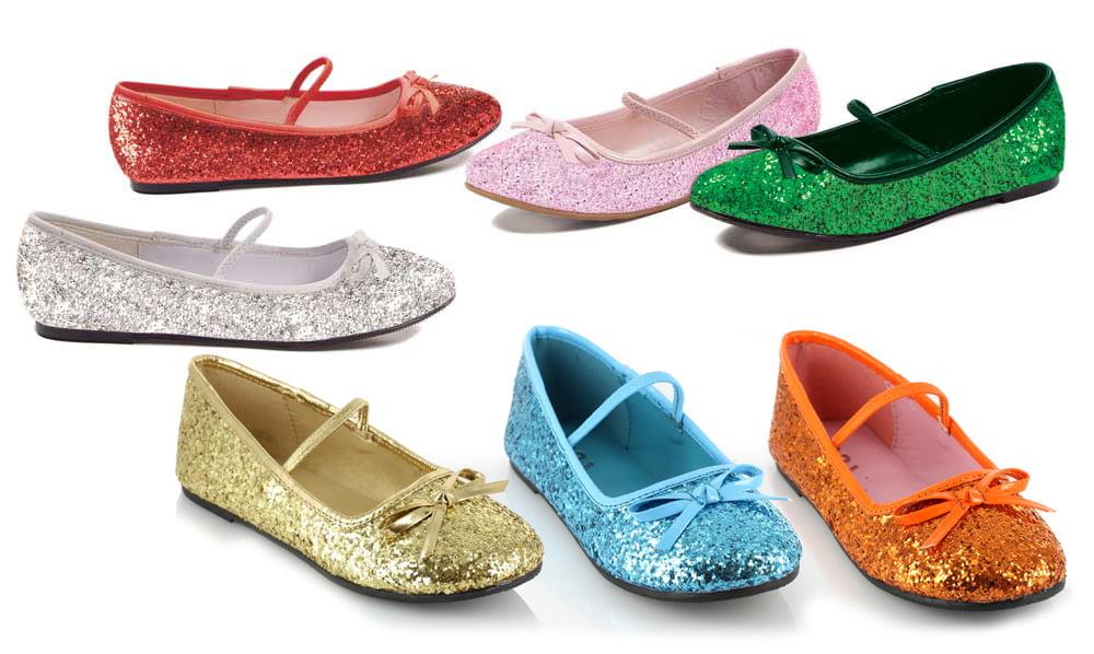 46205fdff28f Ellie Shoes - Girls Green Glitter Ballet Flats X-Large - Walmart.com