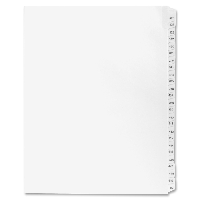 Kleer-Fax Avery Style Legal Exhibit Index Dividers -KLF91918