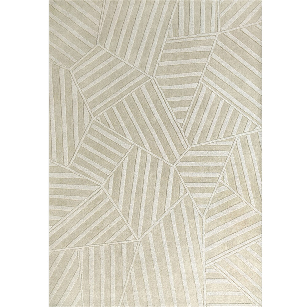 Jovi Home  Hand-tufted Puzzle Off-white Rug (4' x 6')