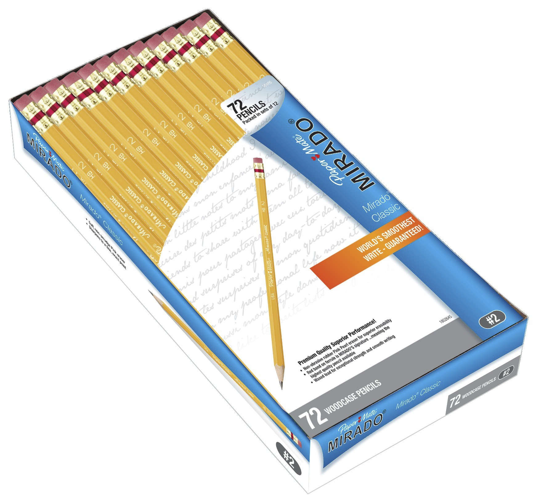 Paper Mate Mirado Classic Woodcase Pencils, #2 HB, 72-Count